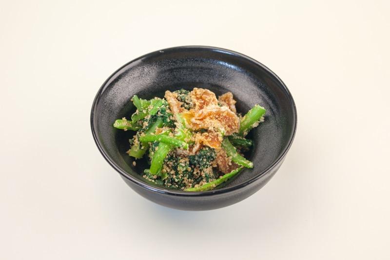 市田柿と小松菜のごま和え