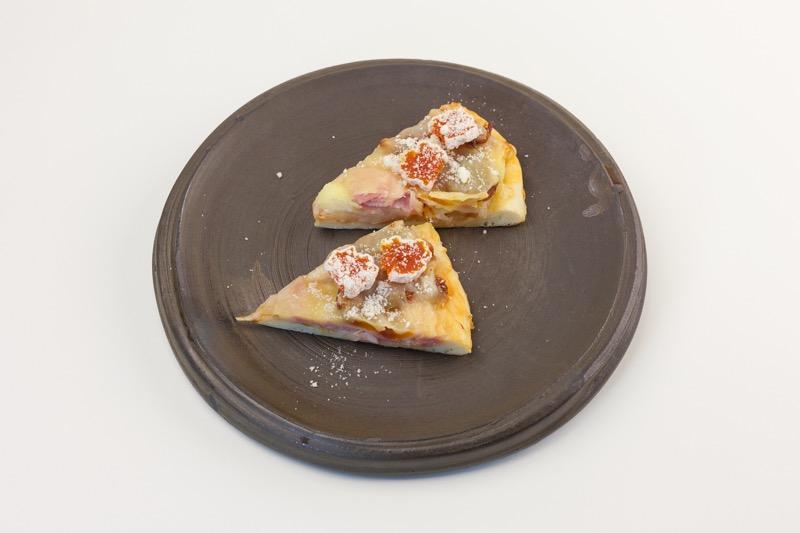 市田柿のピザ