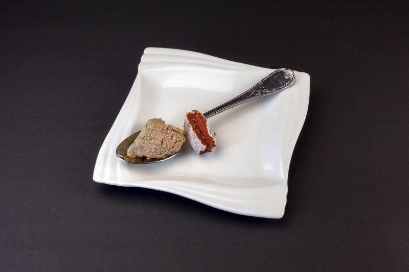 市田柿とレバーペースト